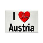 I Love Austria Rectangle Magnet (10 pack)