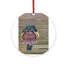 Cute Wild goose Ornament (Round)