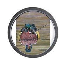Funny Mallard duck Wall Clock
