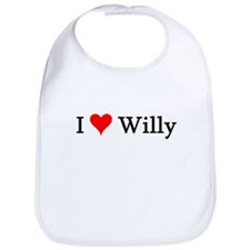 I Love Willy Bib