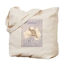 Kangeroo and Map One Pound Tote Bag