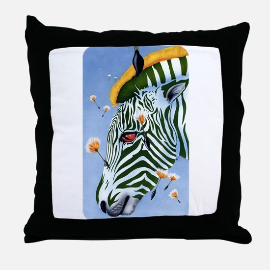 Zebra Breeze Throw Pillow
