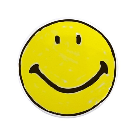 "Original Happy Face 3.5"" Button (100 pack)"