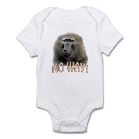 baboon no way Infant Bodysuit