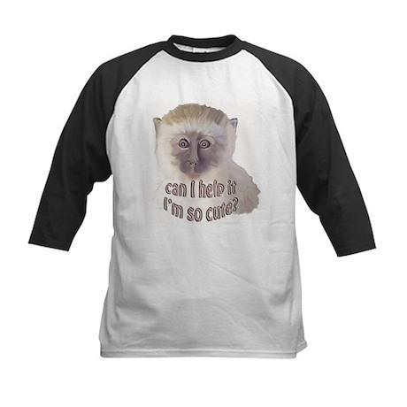 cute vervet monkey Kids Baseball Jersey