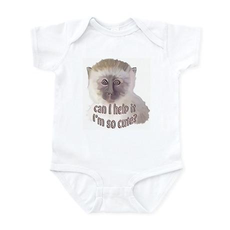 cute vervet monkey Infant Bodysuit