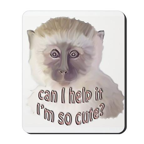 cute vervet monkey Mousepad