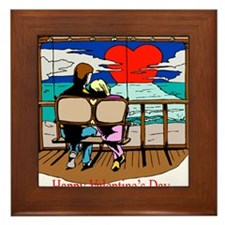 sunsetting valentine Framed Tile