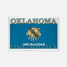 Oklahoma State Flag Rectangle Magnet