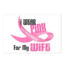 I Wear Pink For My Wife 33 Postcards (Package of 8