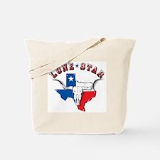 Lone Star Skull Tote Bag