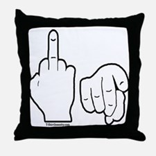 Middle Finger Throw Pillow