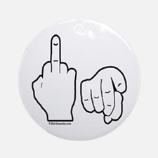Middle Finger Ornament (Round)