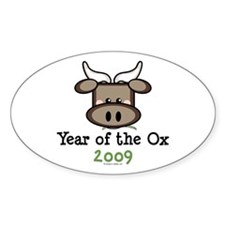2009 Year of the Ox Oval Decal