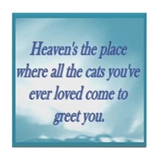 Cats in Heaven Tile Coaster