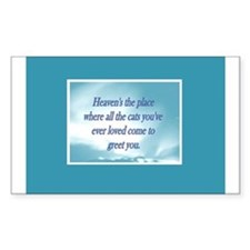 Cats in Heaven Rectangle Decal