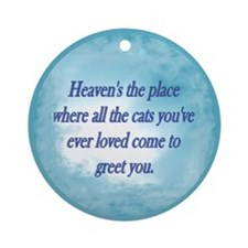 Cats in Heaven Ornament (Round)