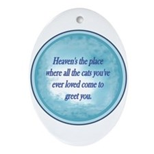 Cats in Heaven Oval Ornament