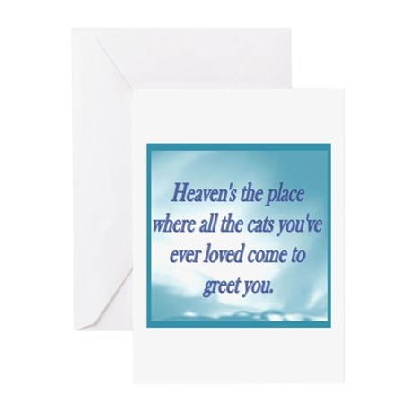 Cats in Heaven Greeting Cards (Pk of 10)