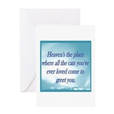 Cats in Heaven Greeting Card