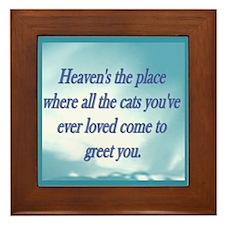 Cats in Heaven Framed Tile