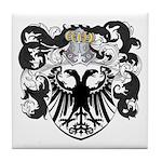 DeLeeuw Family Crest Tile Coaster