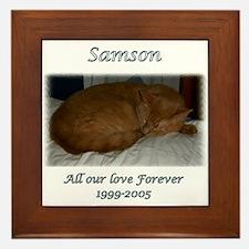 Custom personalized Pet Memorial Framed Tile