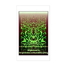 Enlightenment Is Collection Rectangle Decal
