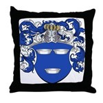 DeMoes Family Crest Throw Pillow