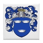 DeMoes Family Crest Tile Coaster