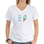 YOU MAKE ME MELT Women's V-Neck T-Shirt