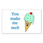 YOU MAKE ME MELT Rectangle Sticker 10 pk)