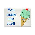 YOU MAKE ME MELT Rectangle Magnet (100 pack)