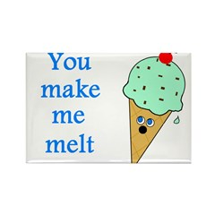 YOU MAKE ME MELT Rectangle Magnet (10 pack)