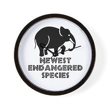 Endangered species. Wall Clock