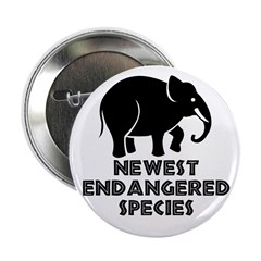 Endangered species. Button