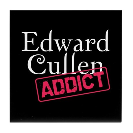 Edward Cullen Addict Tile Coaster