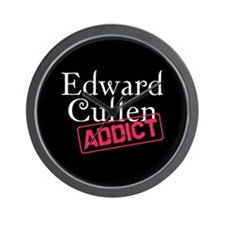 Edward Cullen Addict Wall Clock