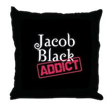 Jacob Black Addict Throw Pillow