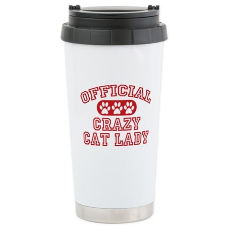Crazy Cat Lady Stainless Steel Travel Mug