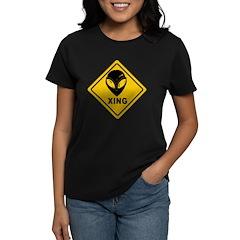 Yellow Alien Crossing Sign Tee