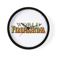 World of Firefighting Wall Clock