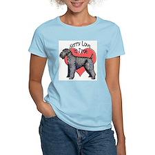 kerry blue terrier love T-Shirt