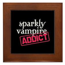 Sparkly Vampire Addict Framed Tile