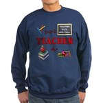Teachers Do It With Class Sweatshirt (dark)