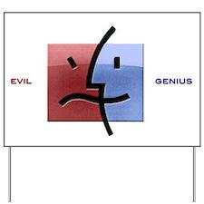 Cute Evil computer Yard Sign