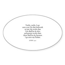 JOHN 14:12 Oval Decal