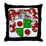 DeRoos Family Crest Throw Pillow