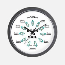 BORN TO SAIL Wall Clock