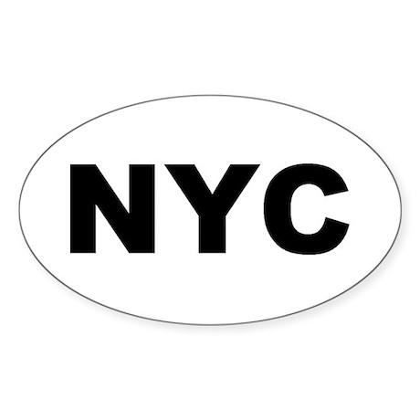 NYC (NEW YORK CITY, NY) Oval Sticker